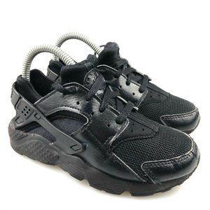 Nike Unisex Kids Air Hauarache Run Black Shoes 12C